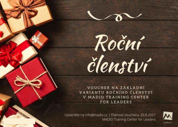 Roční členství v tréninkovém centru pro leadery MADIO, Voucher - MADIO